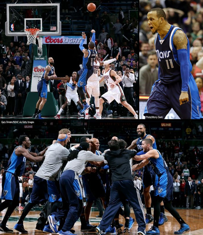 Monta Ellis hits a spinning-off-1-foot-fading-away-game-winner vs the Bucks