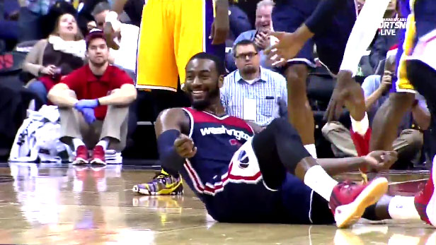 John Wall's 4-point play & shimmy will make you smile…unless you are a Lakers fan