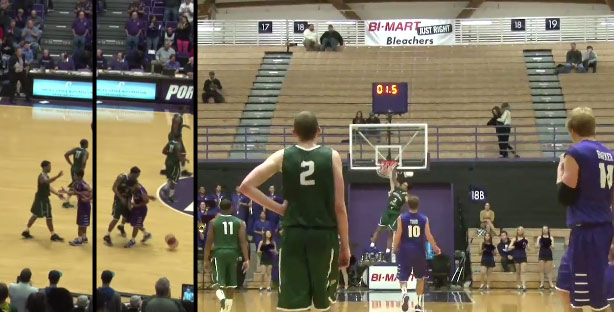 Portland State player pulls a Caron Bulter, fakes handshake then steals and dunks at buzzer