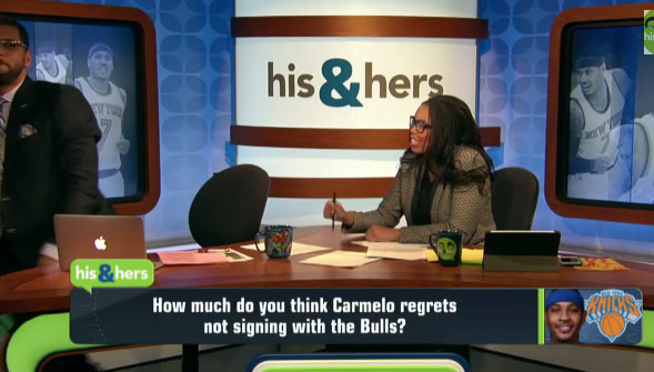 Her annoying rant about Carmelo Anthony made her co-host leave the set
