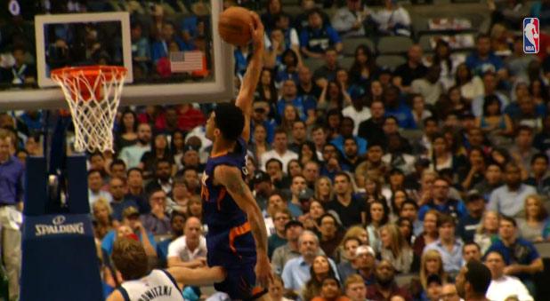 Not on Dirk! Gerald Green throws down 2 sicks dunks vs the Mavs