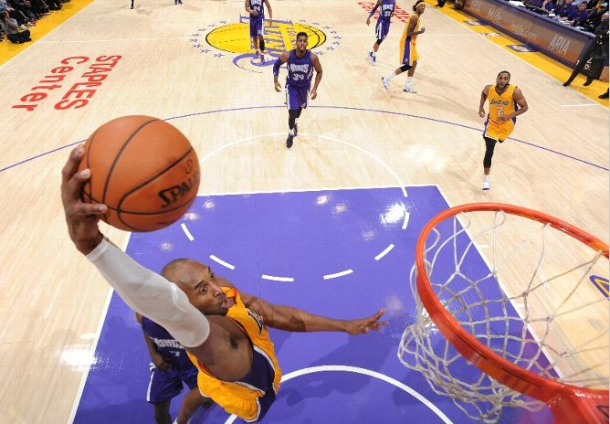 Kobe Bryant 32pts (9 in final 3 mins) in a win over the Kings
