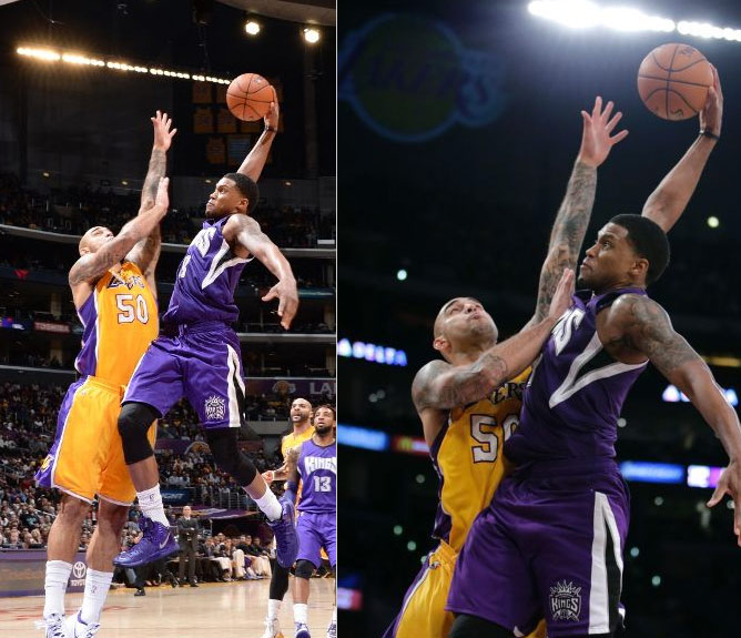 Robert Sacre ruined a great Rudy Gay poster dunk