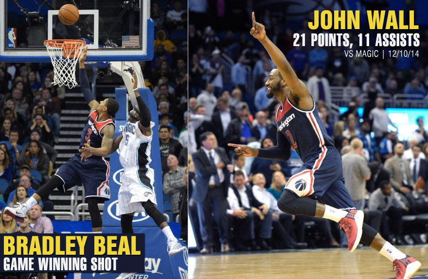 Bradley Beal becomes 2nd youngest player ever to make a game-winner, oop against Orlando Magic