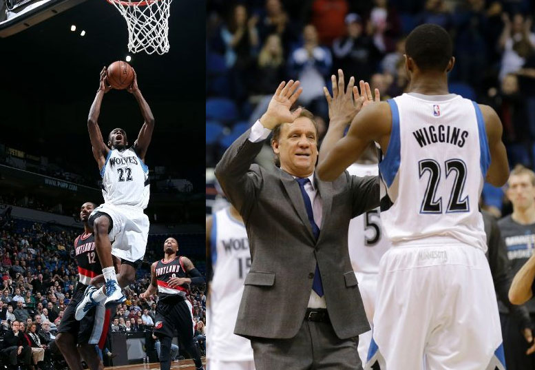 Andrew Wiggins gets first double-double (23pts/10rebs) in win over the Blazers