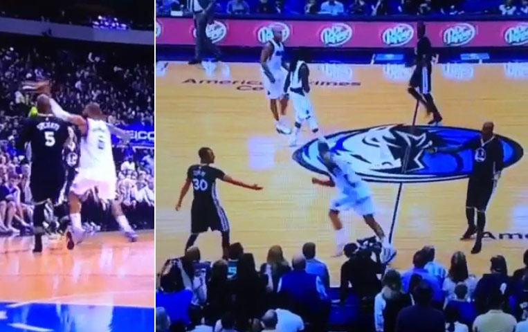 Tyson Chandler swats Mo Speight's weak a$$ Sh…Shoe out of bounds