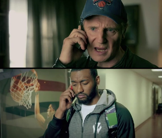 Liam Neeson calls John Wall to tell him the Knicks have skills & will beat the Wizards with them