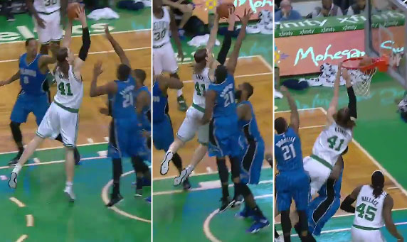 Kelly Olynyk dunks on Kyle O'Quinn & pins Oladipo's shot on the glass