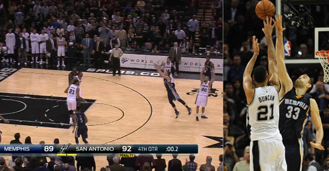 One lucky shot deserves another. Grizzlies beat Spurs in triple OT