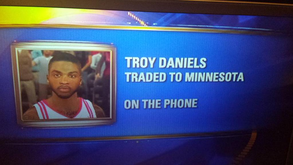 Local Houston News Station uses NBA2k pic for traded Troy Daniels
