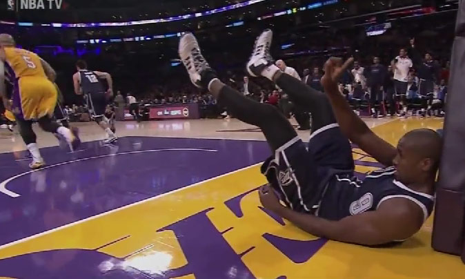 Serge Ibaka does the Mutombo finger wag after rejecting Boozer's dunk attempt