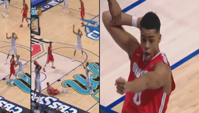 D'Angelo Russell flops & then trolls UNC with a sprinkler dance