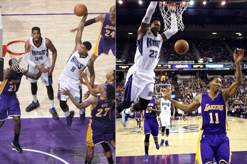 Rudy Gay & Ben McLemore taking flight against the Lakers