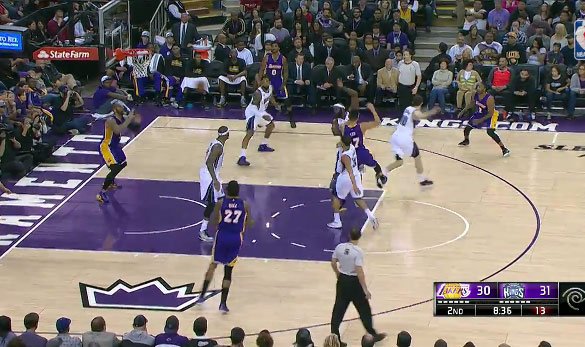 Jeremy Lin no-look pass to Carlos Boozer
