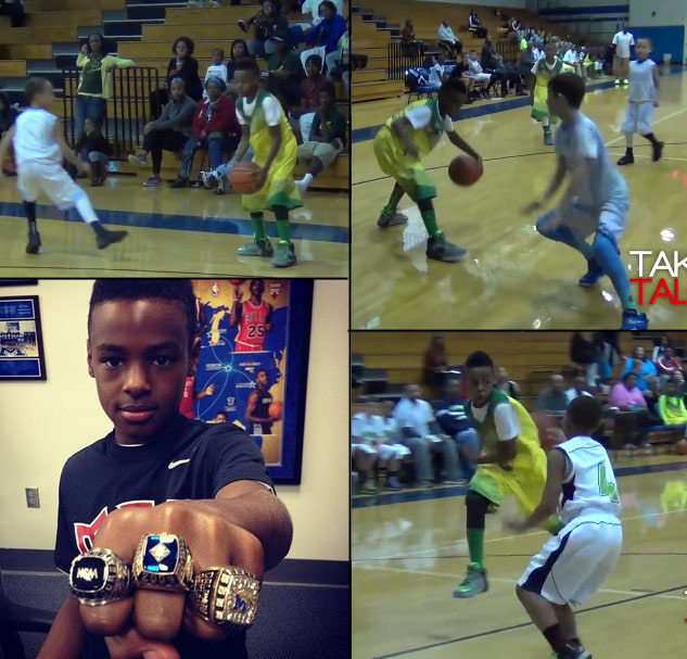 LeBron James Jr crossing over & blowing past kids…just like Dad