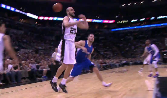 Manu Ginobili behind the head pass to Green, 19pts & 10asts in 27mins vs the Clippers