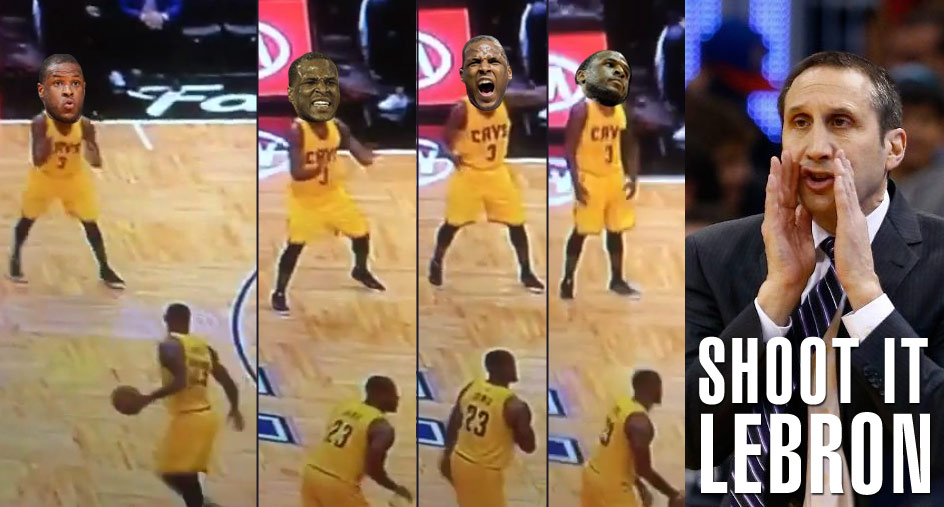 Dion Waiters begs LeBron for the Ball, eventually gives up