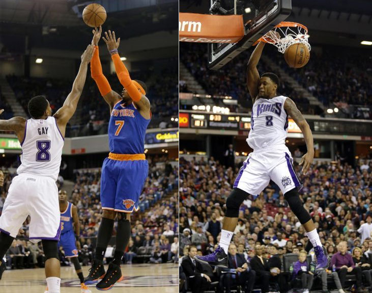 Rudy Gay (29pts) shootout with Carmelo Anthony (36pts/11rebs) in Kings' OT win