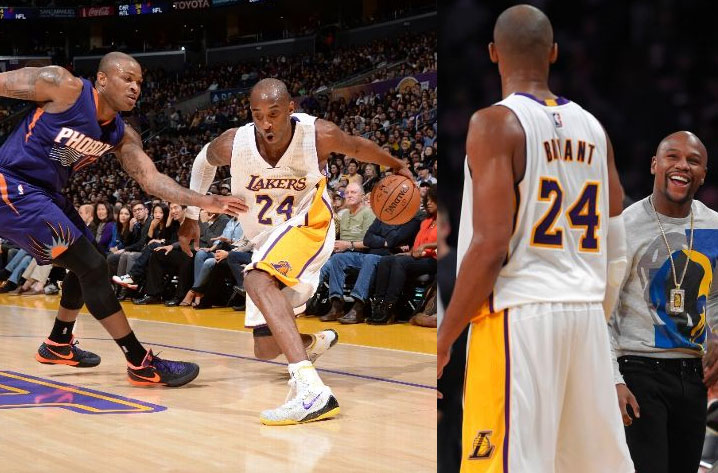 Kobe Bryant scores 10 points in return vs the Suns
