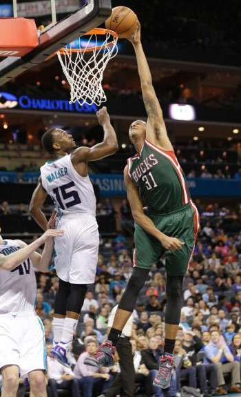 Kemba Walker had 4 blocks so he thought he would be able to block a dunk by 6'11 John Henson