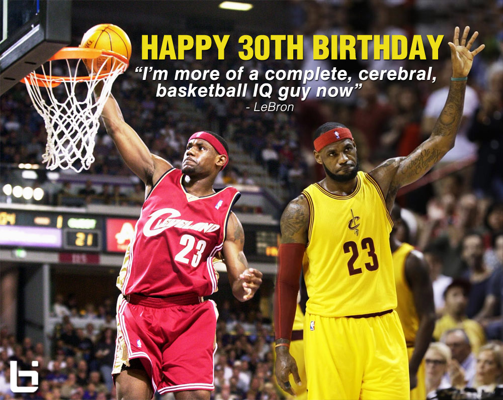 lebron birthday LeBron turns 30, LeBron's Best Birthday Games   Ballislife.com lebron birthday