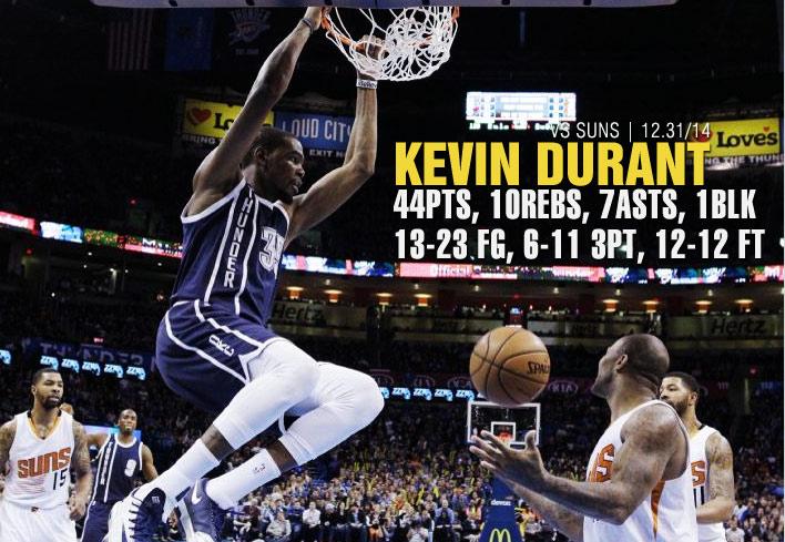 Kevin Durant returns & scores 44 in OT win vs the Suns