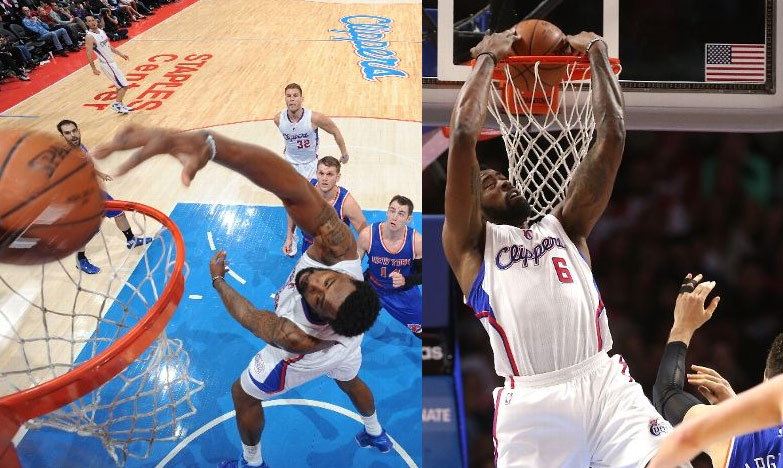 DeAndre Jordan with a couple of impressive alley-oop dunks vs the Knicks