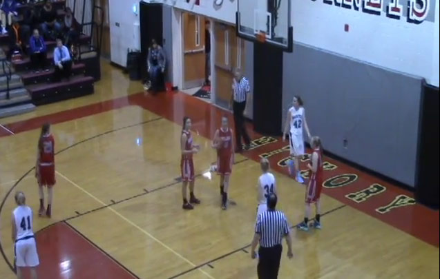The female Shaq breaks the rim off a backboard in a high school game by…