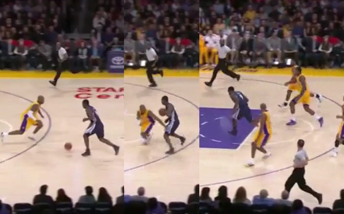 Kobe Bryant flips out on Jeremy Lin, gets crossed & takes the L vs the Griz