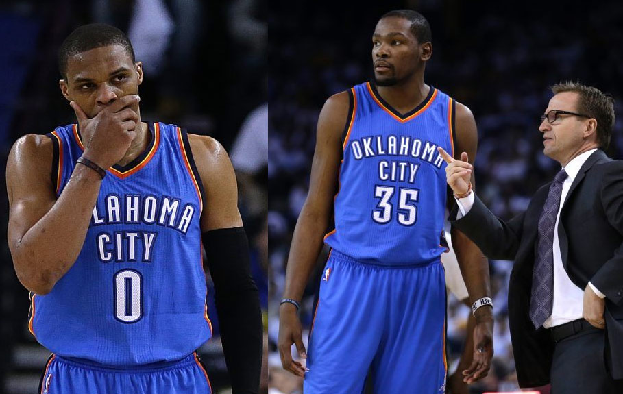KD & Westbrook miss 29 of 37 shots vs the Warriors