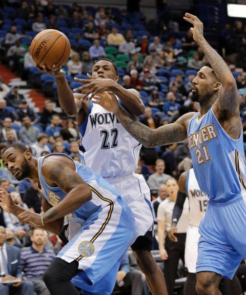 Andrew Wiggins scores 20 vs Nuggets, 20+ in 6 of his last 7 games