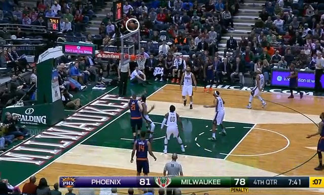 Isaiah Thomas was just a little off on this shot… that hit the shot clock