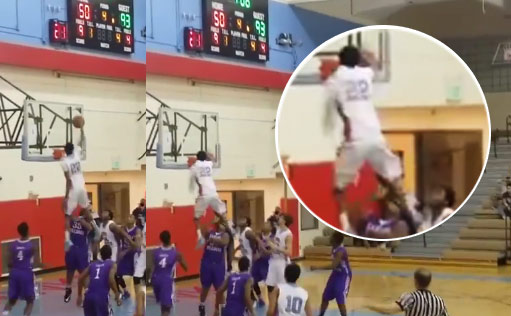 HS senior Hasif Yassin with one of the nastiest head above the rim inbound dunks ever!
