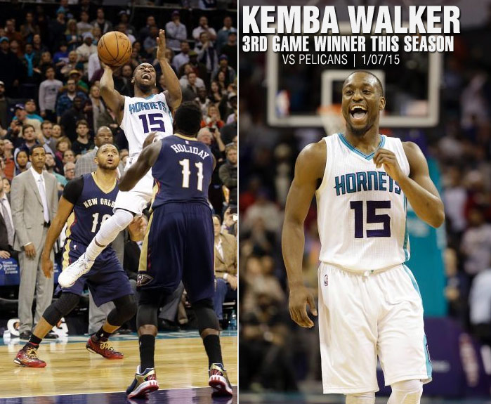 "Kemba Walker scores 31 & makes an ""awkward"" game-winner vs the Pelicans"