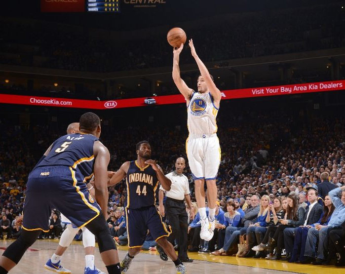 Klay Thompson drops 40 (27 in the 2nd half) on the Pacers
