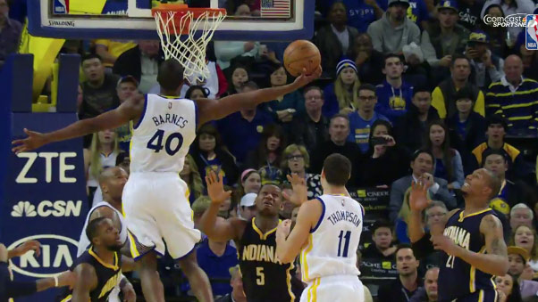 Harrison Barnes impressive 1 hand putback dunk