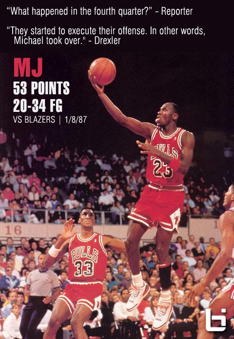 1987: Michael Jordan drops 53 on Drexler & the Blazers