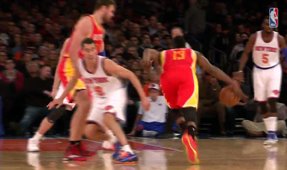 James Harden 25pts, 9asts & 1 crossover on Prigioni in 3 quarters