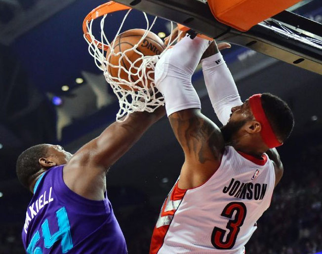 James Johnson dunks on Jason Maxiell