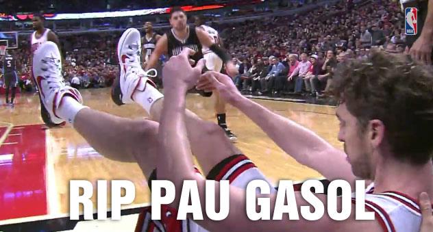 """Nikola Vucevic """"murders"""" Pau Gasol with a #RIP worthy dunk   Top 9 Dunks on Gasol"""