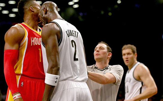 Now he's head-butting! Kevin Garnett ejected for tussle with Dwight Howard