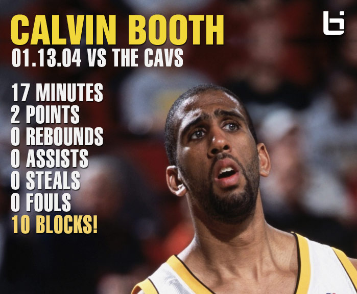 2004: The Night Calvin Booth had 2 pts, 0 rebs, 0 asts & 10 blks in 17 minutes!?!