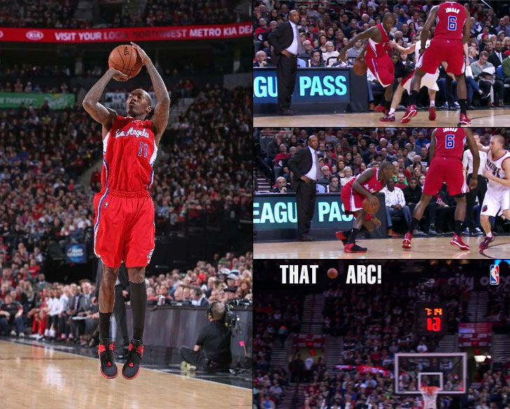 Jamal Crawford scores 25 points (22 on contested jump shots) vs the Blazers