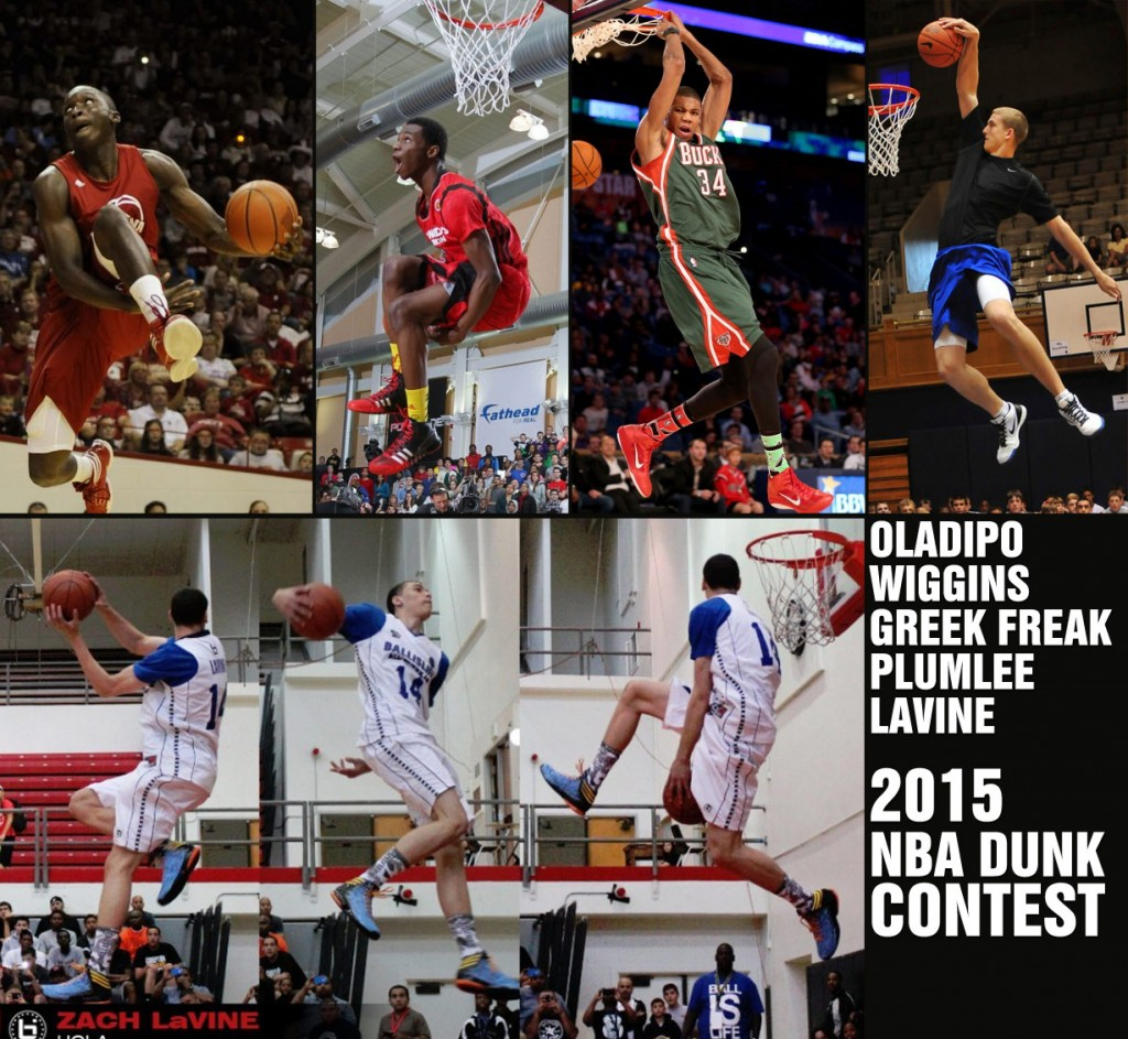 2015 NBA Dunk Contest Preview (LaVine, Oladipo, Plumlee & the Greek Freak)