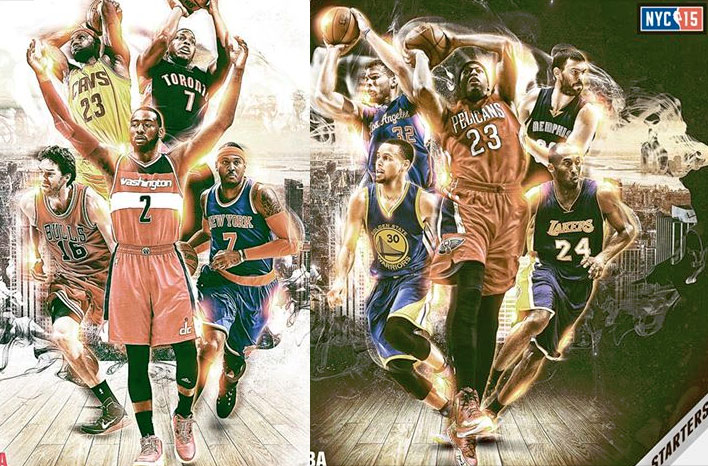 Top 10 Plays of the Season by the 2015 NBA All-Star Starters