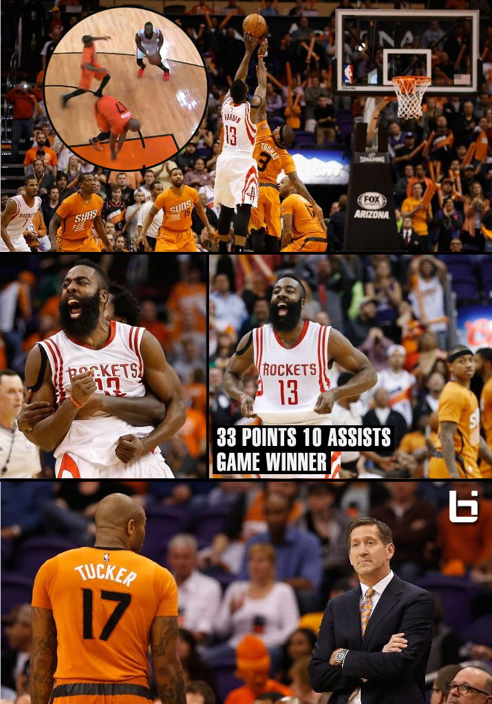 James Harden Breaks PJ Tucker's Ankles Then the Suns Hearts with a Game-Winner | 33pts 10asts