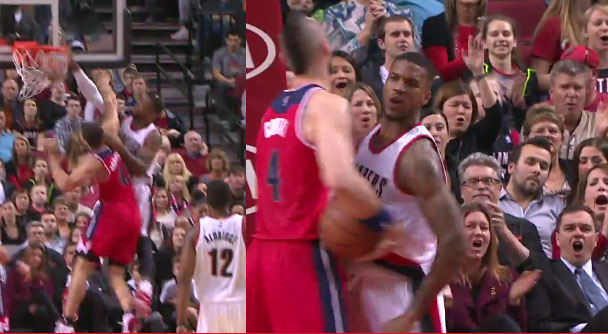 Kris Humphries finally got dunked on as a Wizard – thank you Thomas Robinson