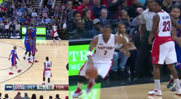 Kyle Lowry pulls an Andre Miller, fakes a time-out and then scores