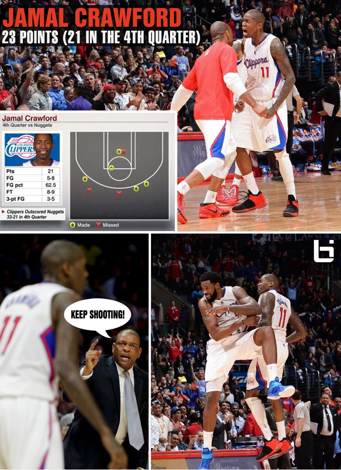 Jamal Crawford goes off for 21 points in the 4th on the anniversary of his career-high 52