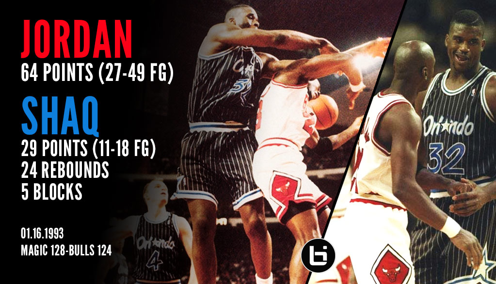 1993) Michael Jordan Scores 64 In A Loss To A Rookie Shaq (29pts ...